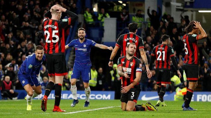 Chelsea saat mengalahkan Bournemoth di perempatfinal Piala Liga Inggris 2018/2019. (Foto: Peter Nicholls/Reuters)
