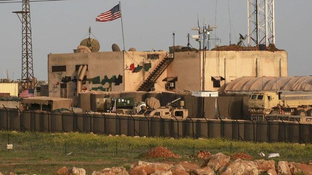 Photo taken on April 2, 2018 shows a general view of a US military base in the al-Asaliyah village, between the city of Aleppo and the northern town of Manbij. - The United States is preparing to withdraw its troops from Syria, US media reported December 19, 2018, a major move that throws into question America's role in the region.A US defense official told CNN the US was planning a