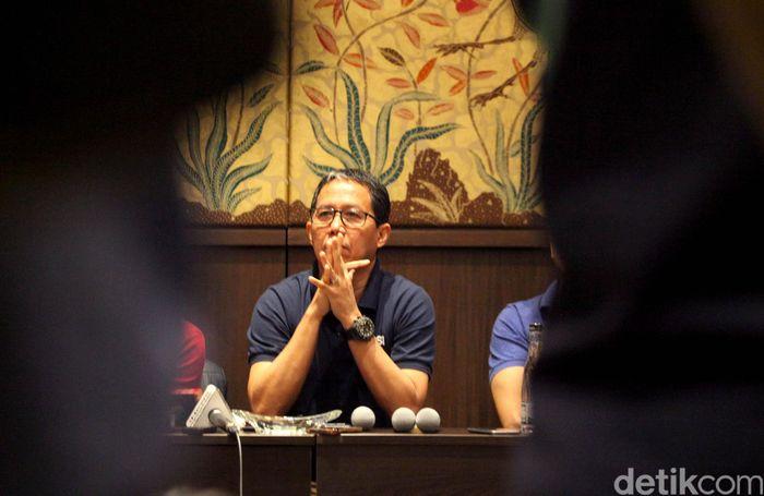 PSSI menggelar konferensi pers terkait kasus pengaturan skor dan mafia bola di Hotel Sultan, Jakarta, Kamis (20/12/2018).