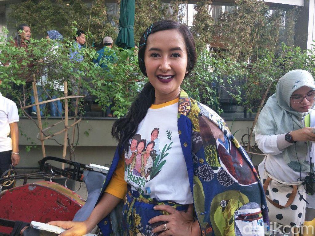 Widi Mulia Bangga Anak Berperan sebagai Ara di Keluarga Cemara