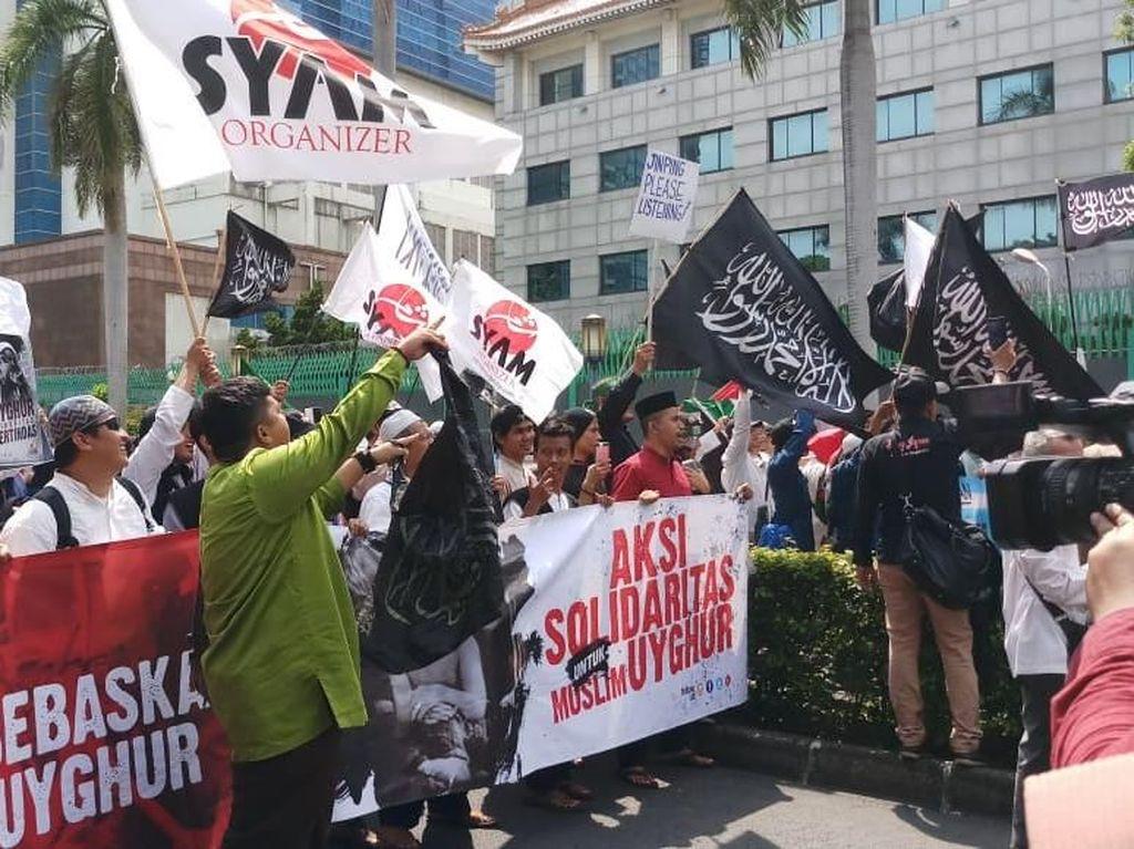 Ada Aksi 2112 untuk Uighur, Jalan di Depan Kedubes China Ditutup