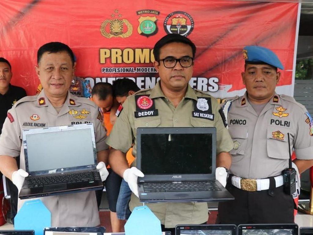 Polisi Tangkap Pencuri Barang Elektronik Sekolah di Tangerang