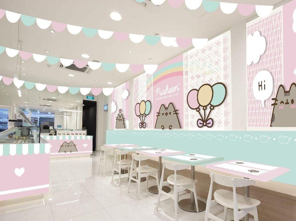 Pertama di Dunia! Kafe Kucing Pusheen yang Imut Ada di Singapura
