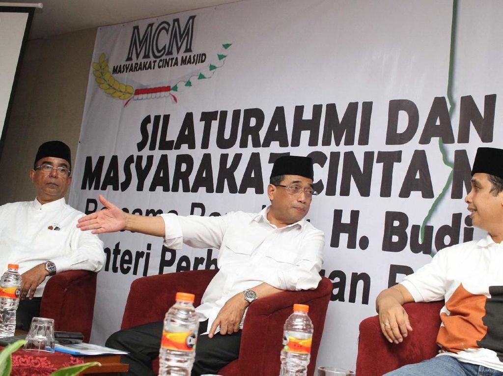 Budi Karya Hadiri Silaturahmi Masyarakat Cinta Masjid