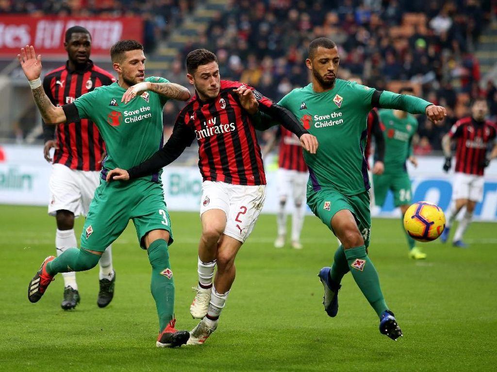 Hasil Liga Italia: Milan Takluk 0-1 dari Fiorentina di San Siro