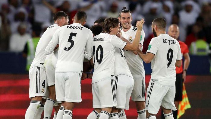 Tampil dominan, Madrid membuka keunggulan di menit ke-14 lewat gol Luka Modric. Marcos Llorente kemudian mencetak gol kedua Madrid di menit ke-60. Foto: Francois Nel/Getty Images