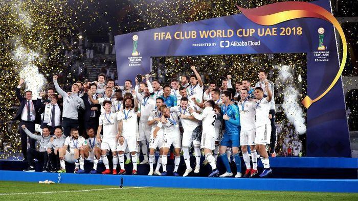 Real Madrid juara Piala Dunia Antarklub 2018, yang ketiga beruntun. (Foto: Francois Nel/Getty Images)