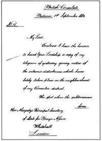 Laporan konsul Inggris di Batavia Alexander Patrick Cameron