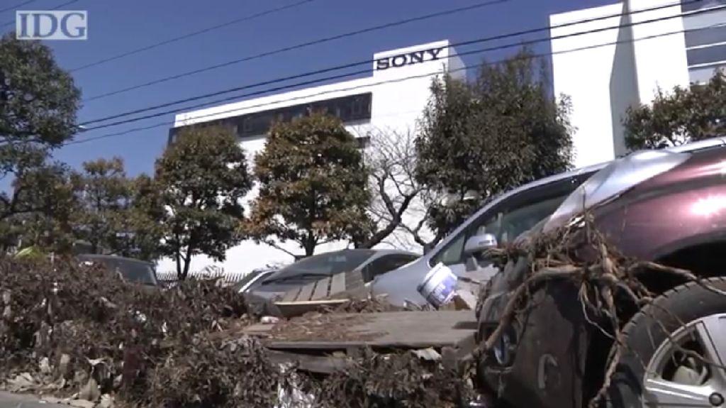 Penampakan Pabrik Sony yang Luluh Lantak Akibat Tsunami 2011