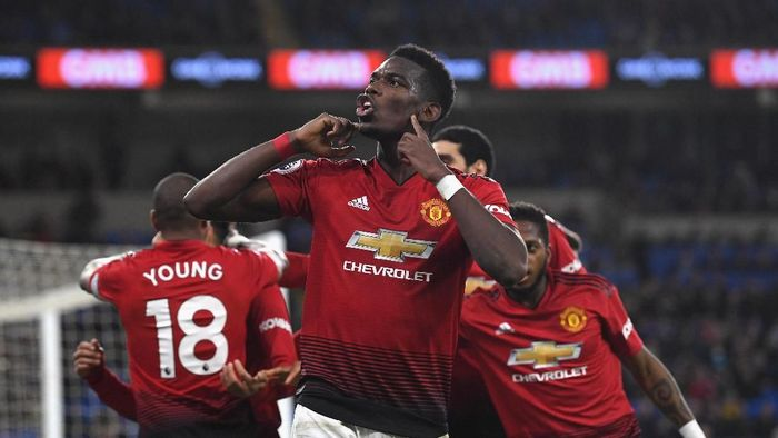 Pemain Manchester United, Paul Pogba. (Foto: Stu Forster/Getty Images)