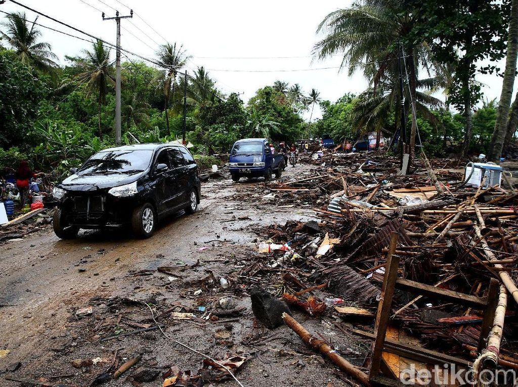 Kondisi Terkini Pantai Anyer Pasca Diterjang Tsunami