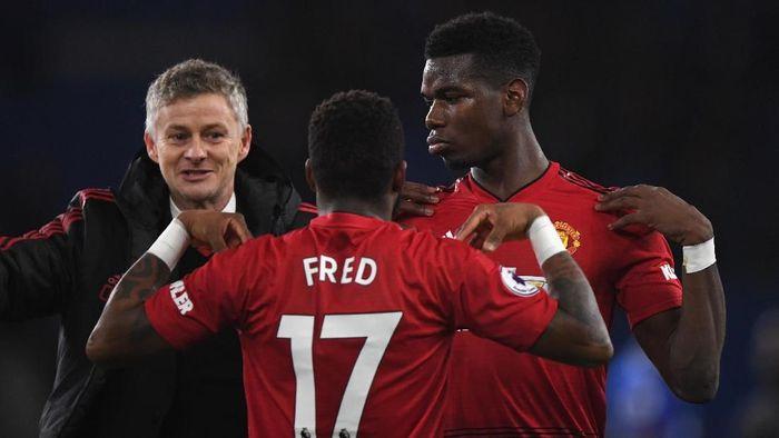Manchester United menang telak 5-1 atas Cardiff City di laga pertama Ole Gunnar Solskjaer (Foto: Stu Forster/Getty Images)