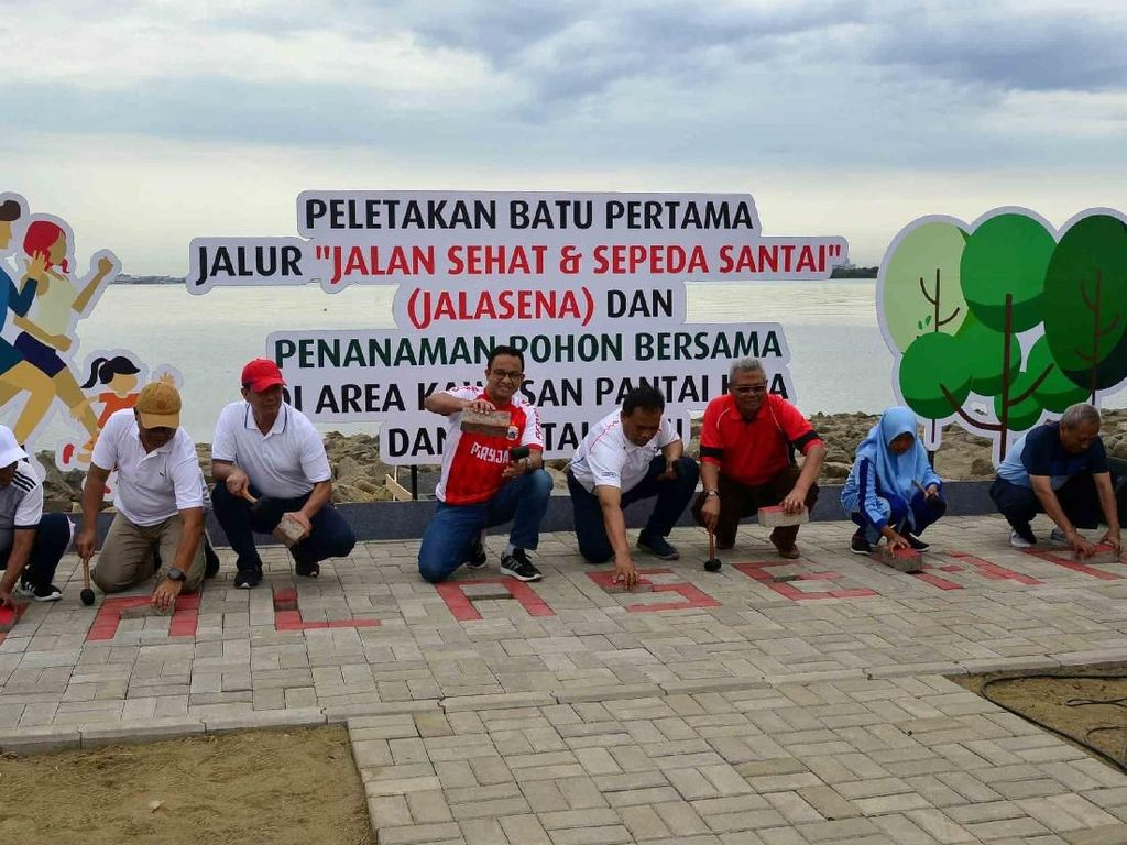 Anies Letakan Batu Pertama Jalasena di Pulau Reklamasi