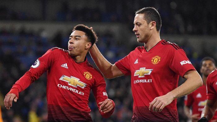 Manchester United menang telak 5-1 atas Cardiff City. (Foto: Stu Forster/Getty Images)