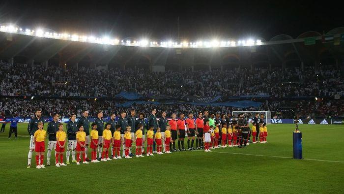 Madrid menghadapi Al Ain di final Piala Dunia Antarklub 2018. Dalam pertandingan di Sheikh Zayed Sports City, Sabtu (22/12/2018) malam WIB, Madrid menang 4-1. Foto: Francois Nel/Getty Images