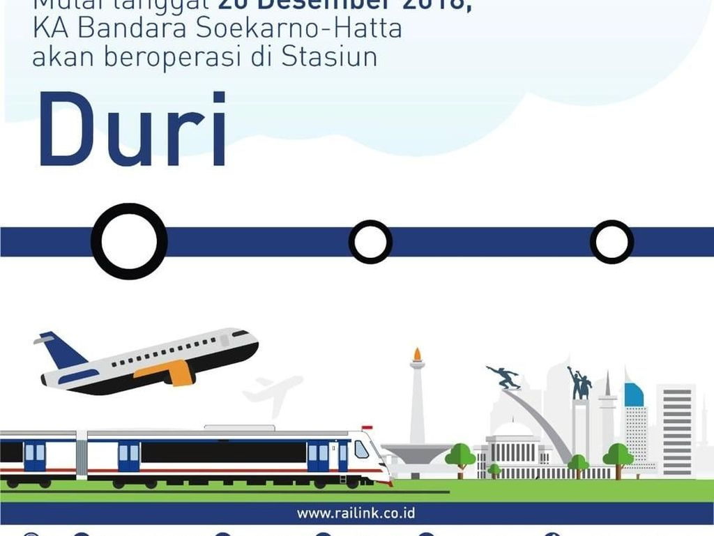 Jelang Nataru, KA Bandara Soetta Layani Penumpang dari Stasiun Duri