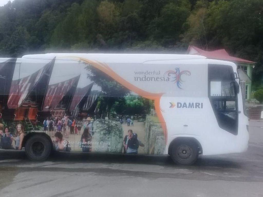 Damri Beri Layanan Gratis untuk Wisatawan di Danau Toba