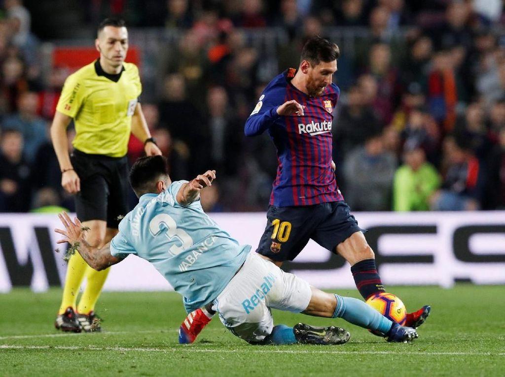 Hasil Barcelona vs Celta Vigo: Dembele-Messi Menangkan Blaugrana 2-0