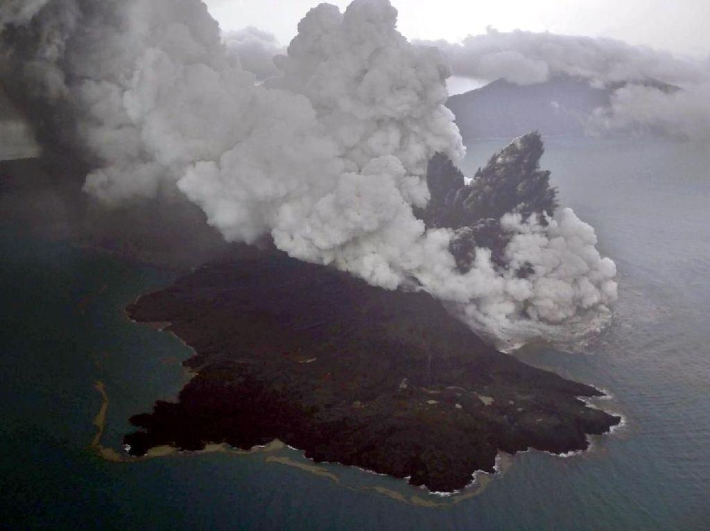 Citra Satelit Indikasikan Kekuatan Erupsi Gunung Anak Krakatau