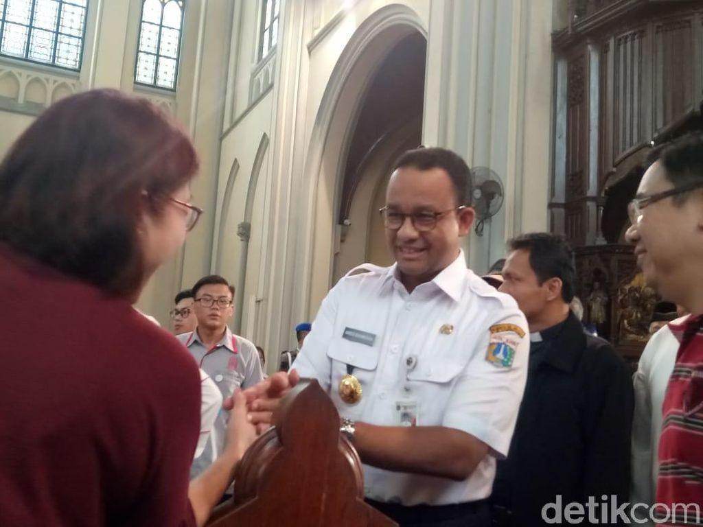 Kunjungi Katedral, Anies: Terima Kasih Jemaat Sudah Jaga Perdamaian