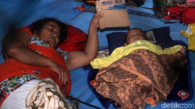 Pengungsi tsunami di Labuan /