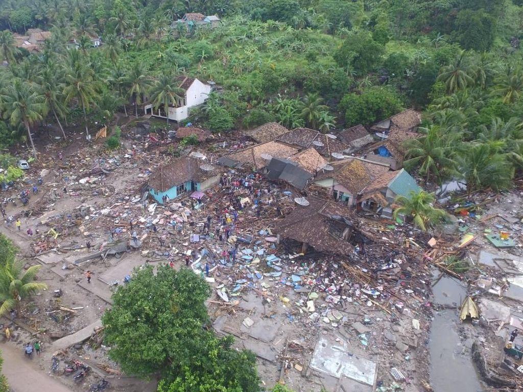 Sebagian Titik Pengungsi Tsunami di Lampung Belum Dapat Bantuan