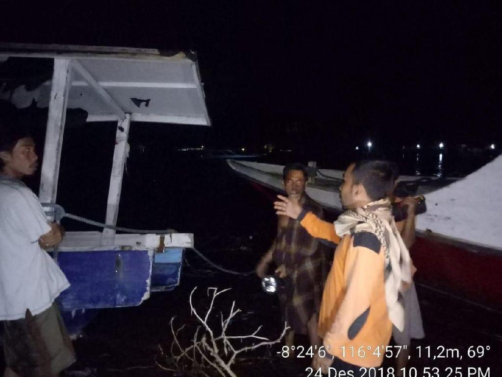 Sempat Pasang, Kondisi Air Laut di Lombok Utara Mulai Surut