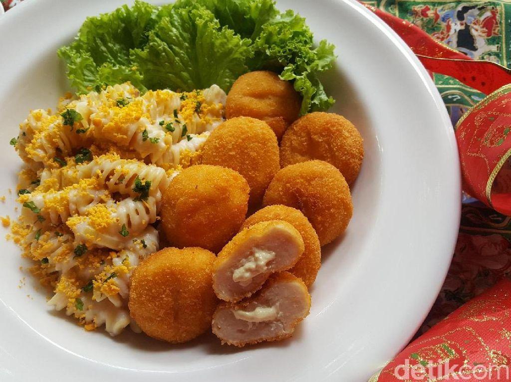 Resep Pasta: Fusili Creamy Sauce with Egg Yolk and Fiesta Honey Mustard