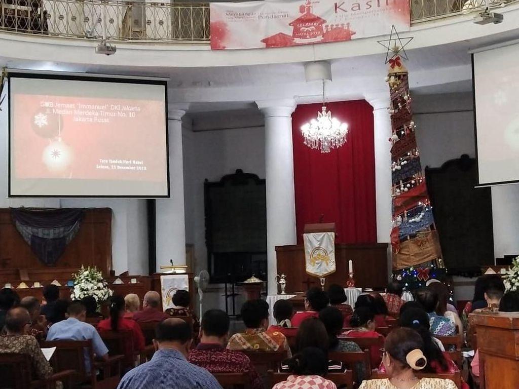 Perayaan Natal di Gereja Immanuel Usung Tema Pesta Demokrasi