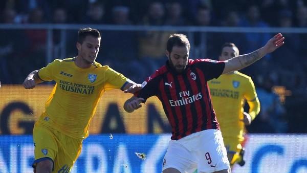 Hasil Liga Italia: Diimbangi Frosinone, Milan Gagal Menang Lagi