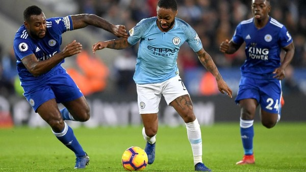 Hasil Liga Inggris: City Tumbang 1-2 dari Leicester