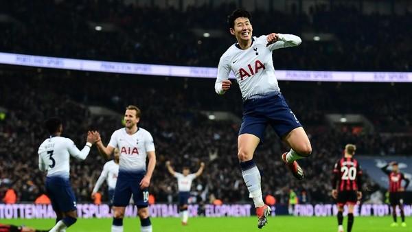 Hasil Liga Inggris: Gasak Bournemouth 5-0, Tottenham ke Posisi Dua
