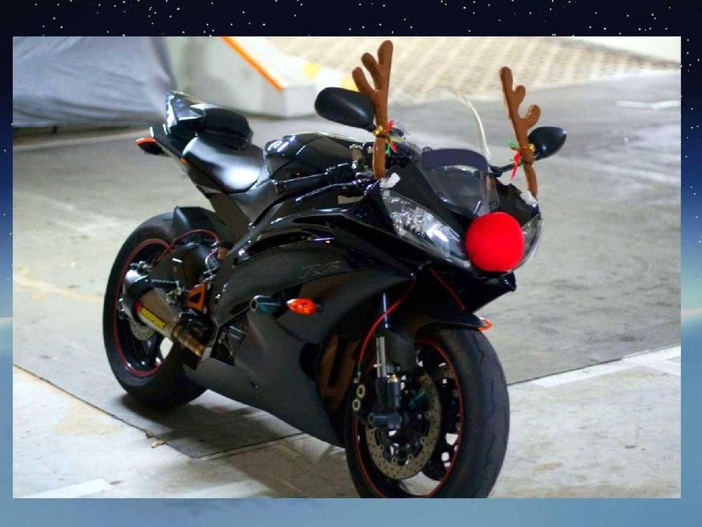 Rayakan Natal, Motor Ini Didandani Seperti Rusa Sinterklas