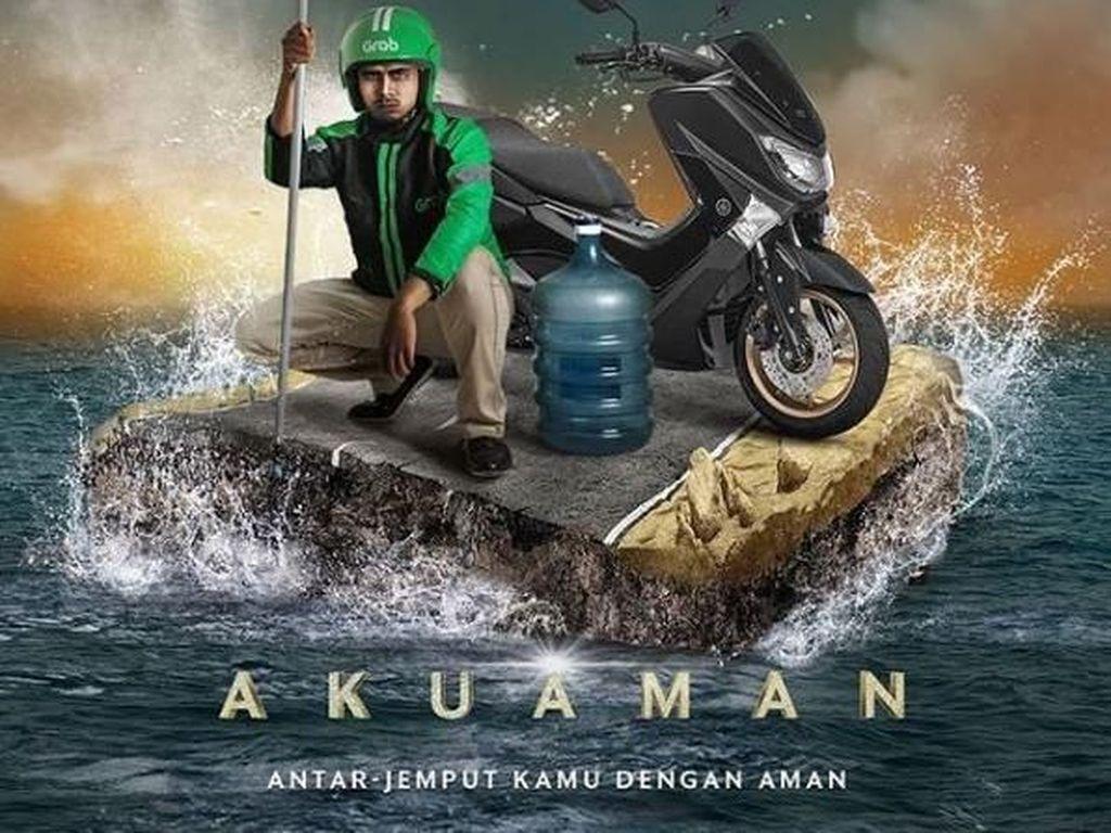 Kocaknya Aquaman dengan Kearifan Lokal ala Grab
