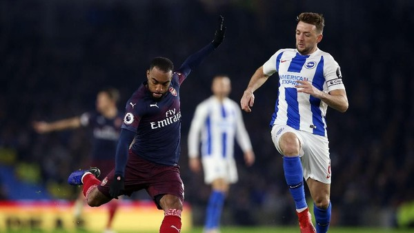 Babak Pertama, Arsenal Tertahan 1-1 di Markas Brighton