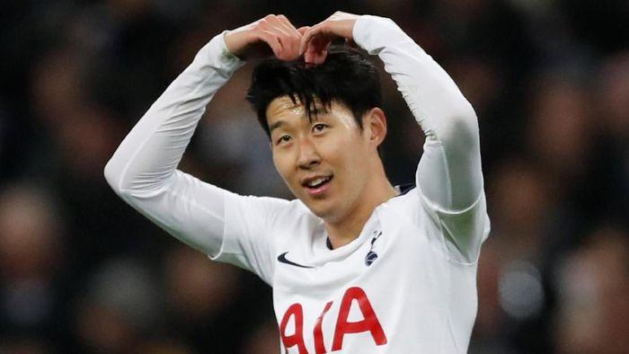Son Heung-min mencetak lima gol dalam tiga pertandingan terakhir di Liga Inggris (Foto: Matthew Childs/Action Images via Reuters)