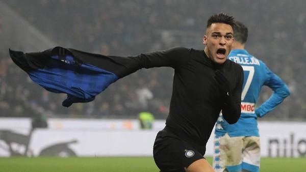 Hasil Inter vs Napoli: Gol Dramatis Lautaro Martinez Menangkan Nerazzurri