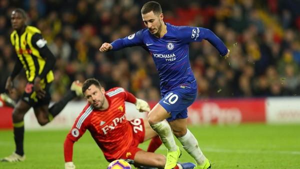 Hasil Liga Inggris: Chelsea Atasi Watford 2-1 Lewat Dua Gol Hazard