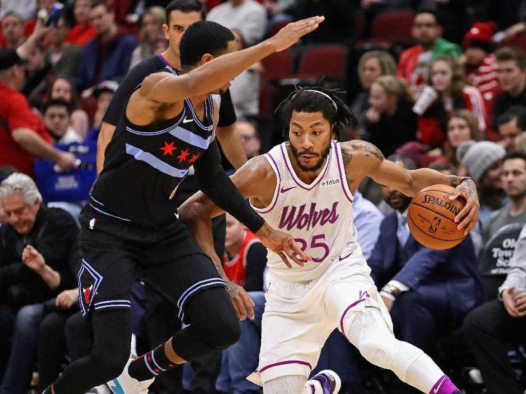 Hasil NBA: Derrick Rose Bawa Wolves Terkam Bulls