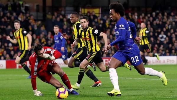 Di Babak Pertama, Chelsea Ditahan Watford 1-1