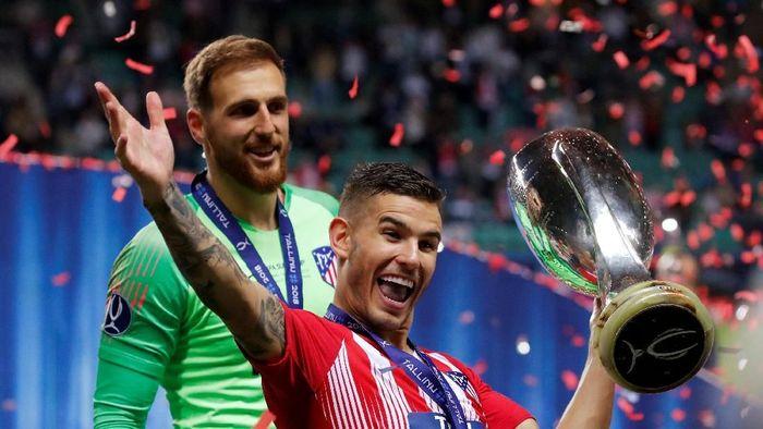 Lucas Hernandez bakal dijual Atletico Madrid ke Bayern Munich? (Maxim Shemetov/REUTERS)