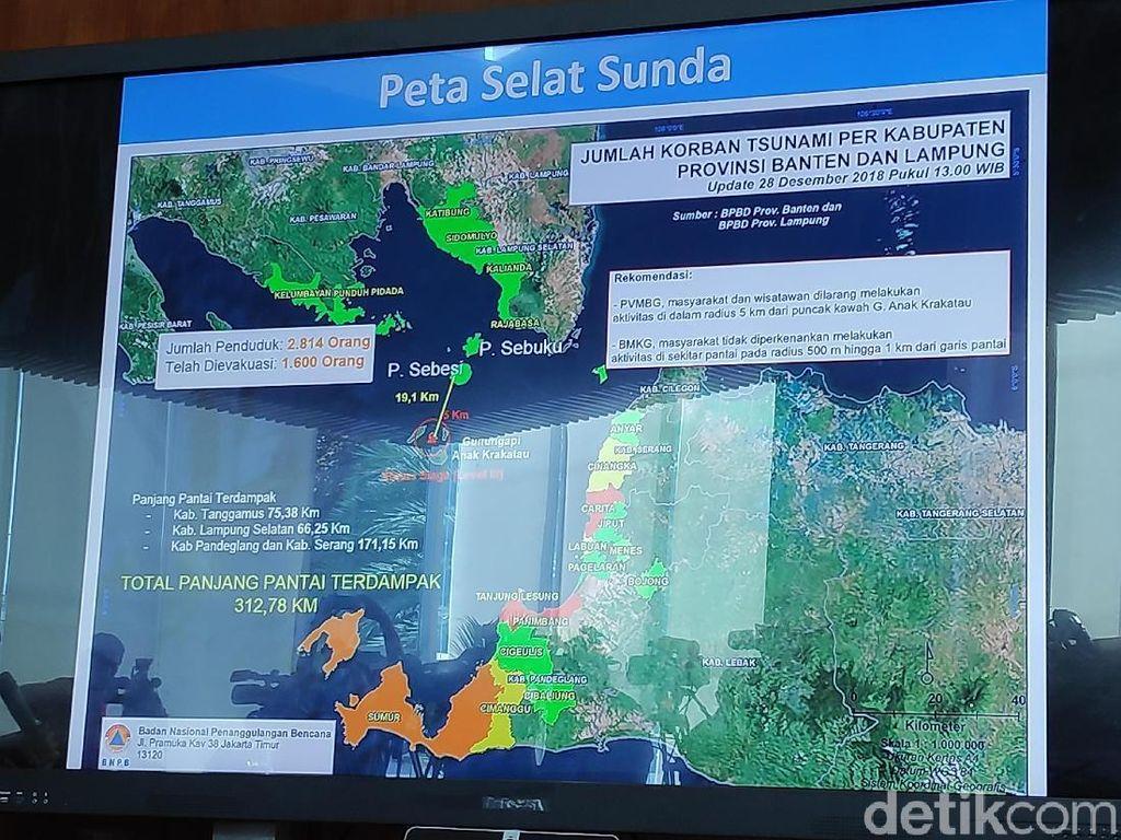 1.600 Penduduk di Pulau Terdekat Anak Krakatau Sudah Dievakuasi