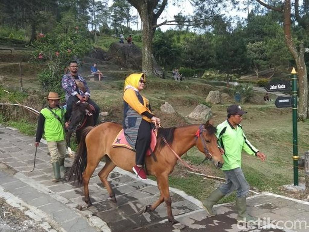 Foto: Berkuda Keliling Candi di Kaki Gunung, Mau?
