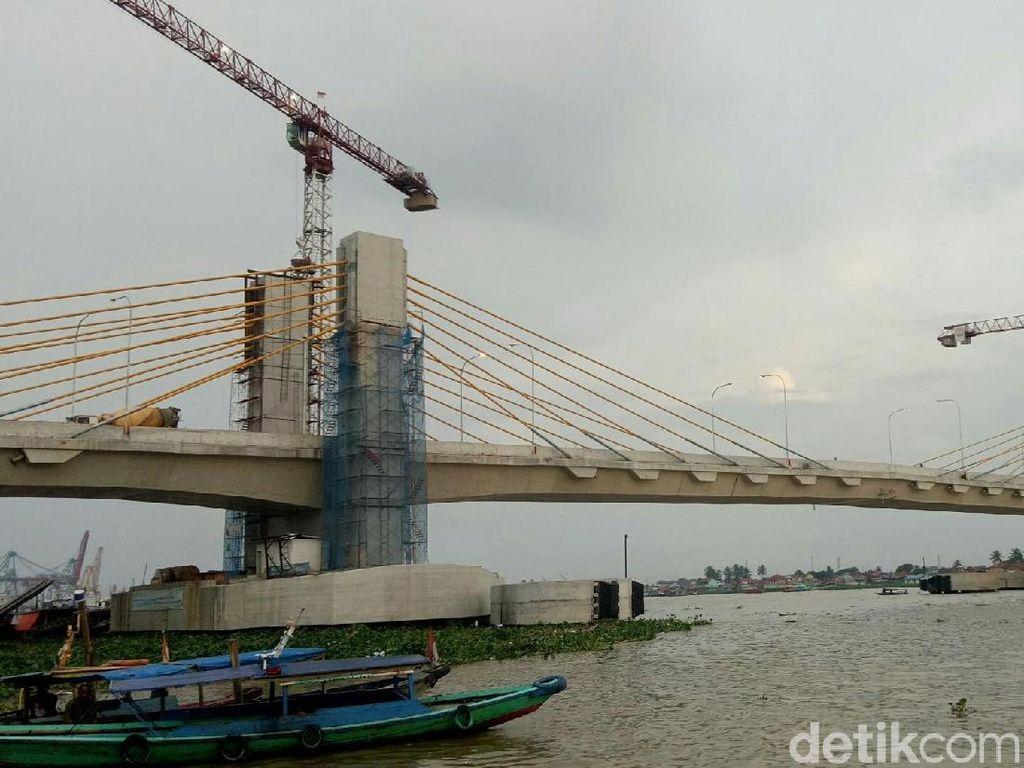Jembatan Musi IV Diuji Coba Januari, Dishub Mulai Atur Lalin