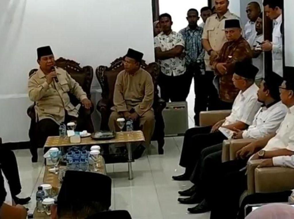 Di Maluku, Prabowo Janji Perbaiki Ketimpangan Ekonomi Indonesia
