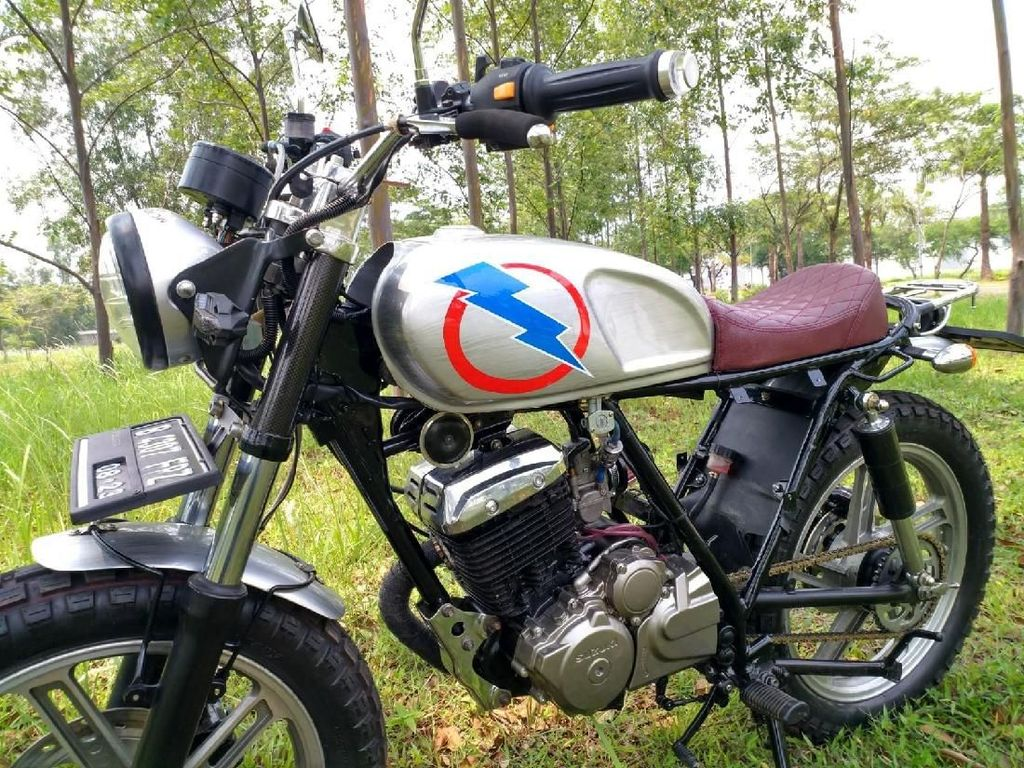 Disebut Motor Butut, Suzuki Thunder Ini Ubah Tampilan Jadi Brat