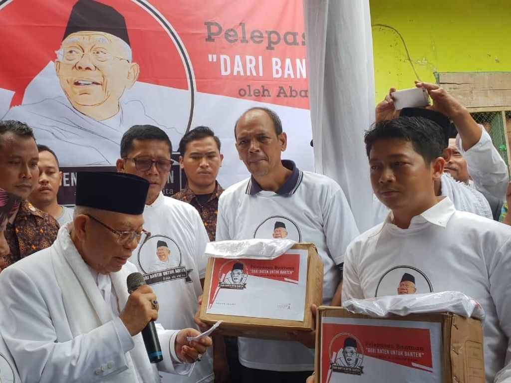 Maruf Amin: Tsunami di Banten Bukan Azab tapi Peringatan Allah