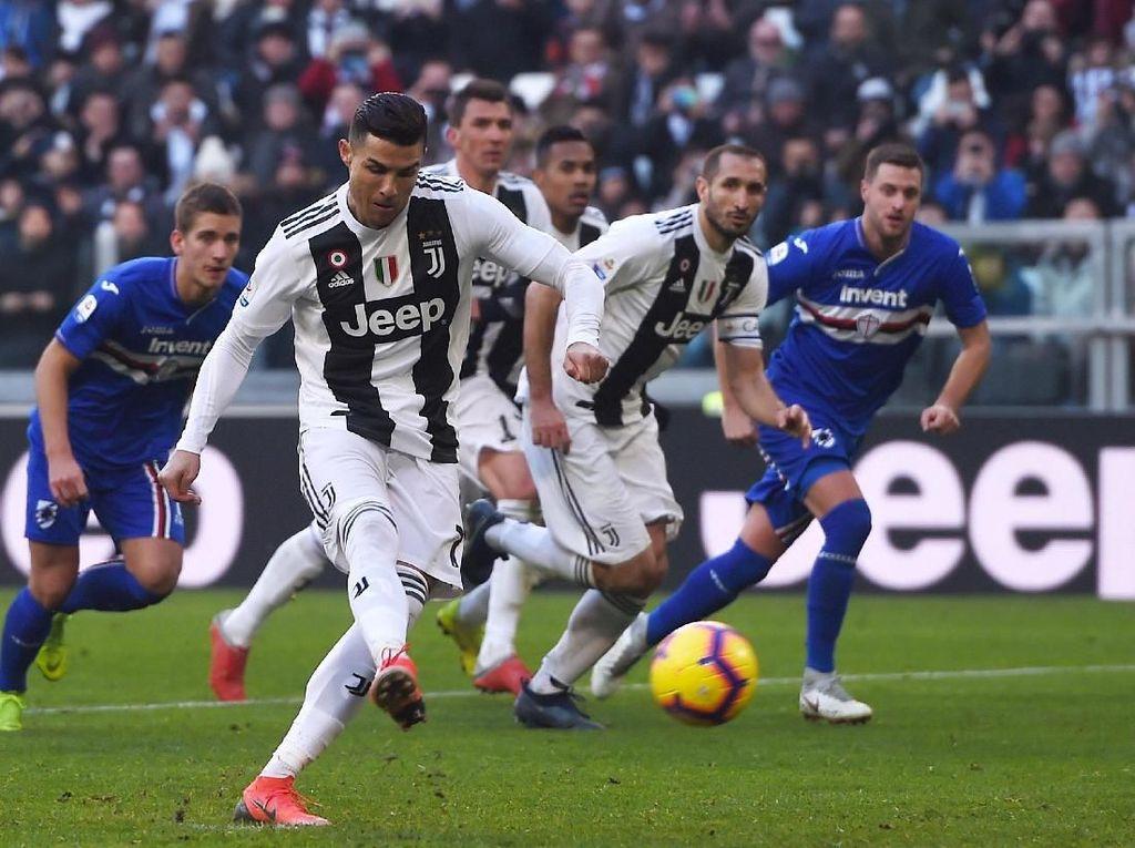 Hasil Liga Italia: Drama VAR di Injury Time, Juventus Atasi Sampdoria