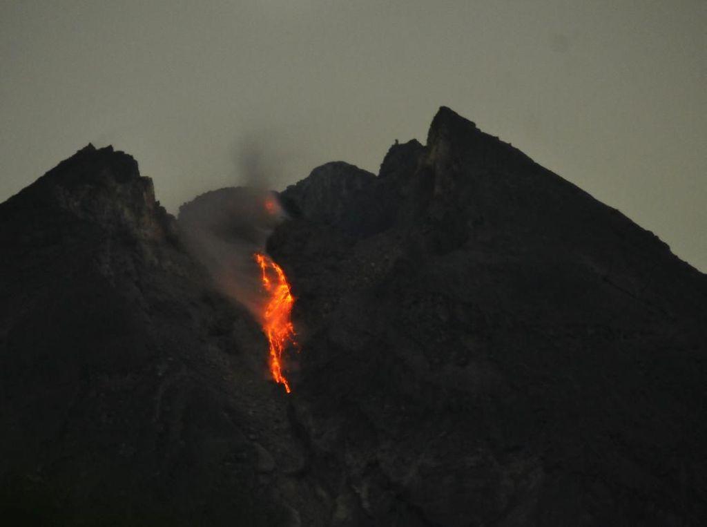 Ngeri! Guguran Lava Pijar Gunung Merapi