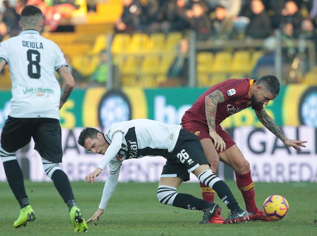 Hasil Liga Italia: Roma Tumpas Parma 2-0